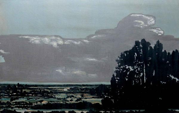 Camino a Parral en 2000 años más, oloe 2012-14. 70 x 110 cm.
