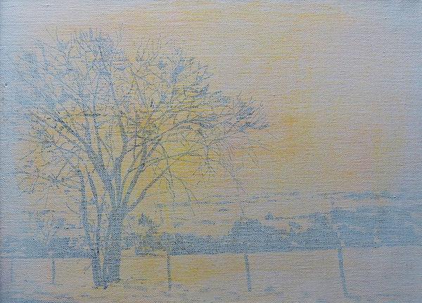 Polvo en el camino, oleo 2013-14. 25 x 35 cm.
