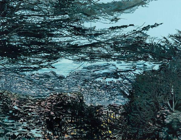 Papudo Sur, oleo 2016. 180 x 270 cm.