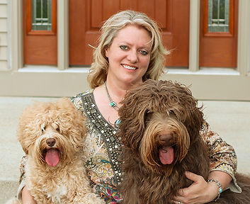 Kristi 2and Boys Riverbend Labradoodles