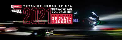 Confermata la 24 ore di SPA 2021!