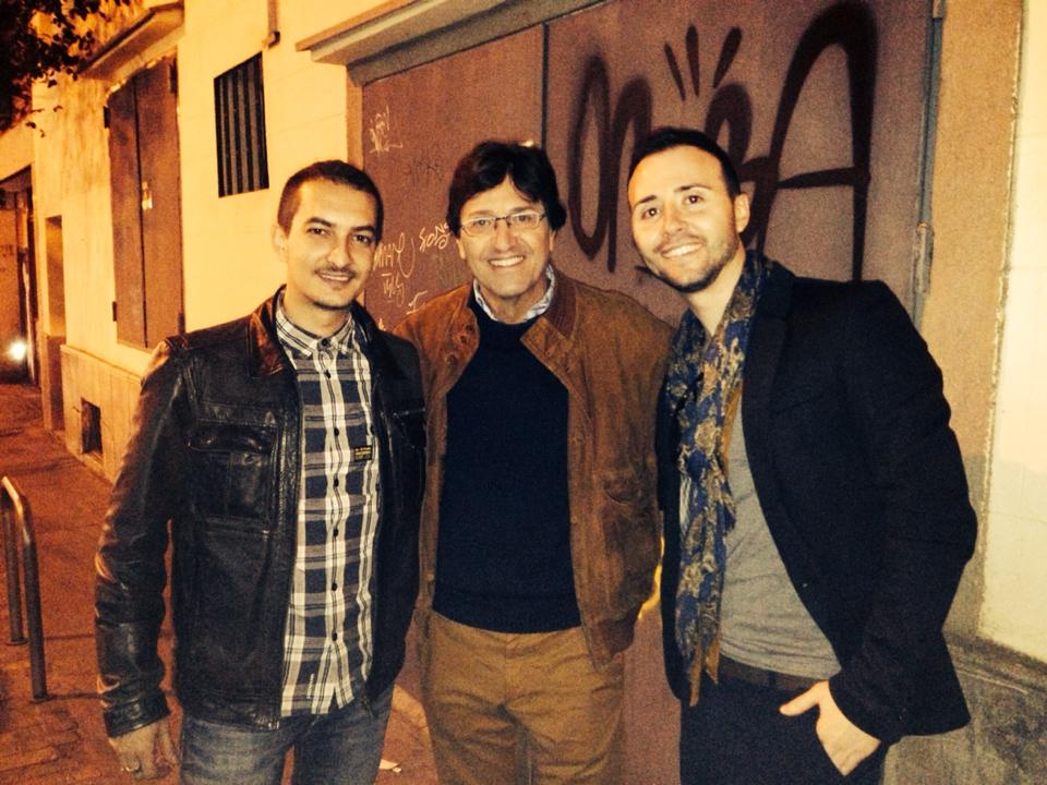 Con Rody Aragón y Raul Bioque