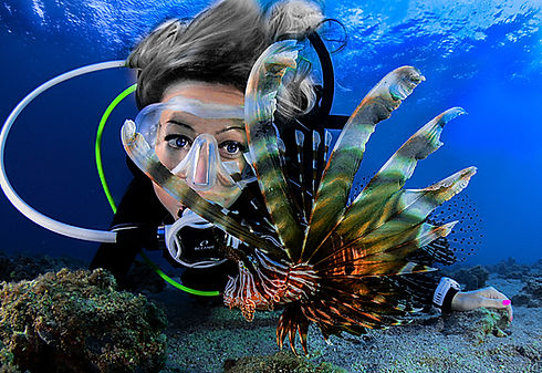 Diver with Lionfish