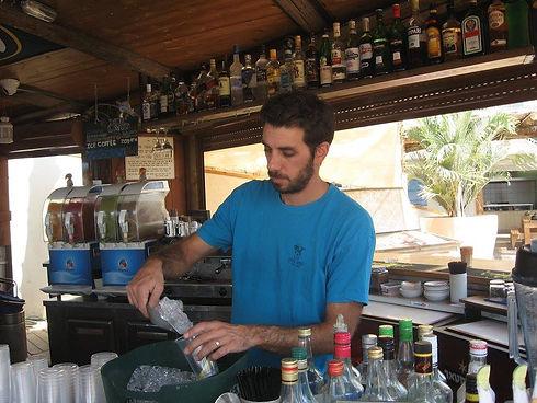 Bar Man working