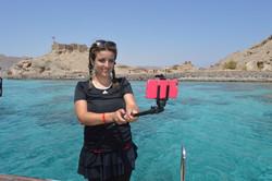 selfie in Taba while snorkeling