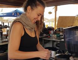 Bar Woman making Coffee