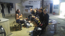 Instructor Dan giving Night Dive Briefin