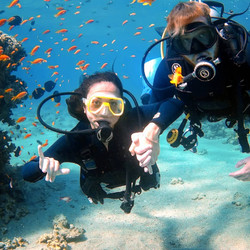 Instructor David with Introductory Dive