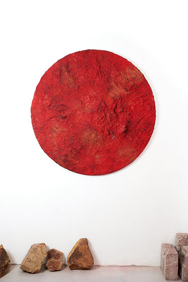 Red, soil, pigments and mixed medias, 2021.