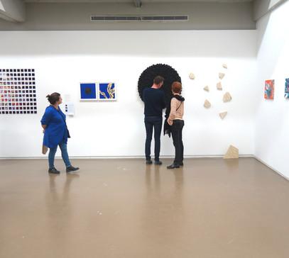 Vue d'exposition, Carte de Visite, Espace Vanderborght, 2019.