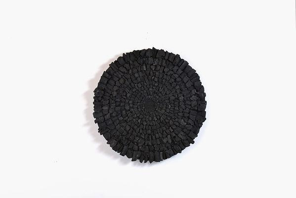 Louise Van Reeth, Mandala, charcoal on w