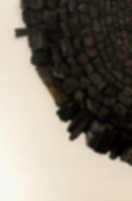 Mandala charcoal art Louise Van Reeth