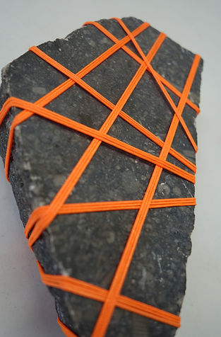 Rock Bondage, cord and granit, variable