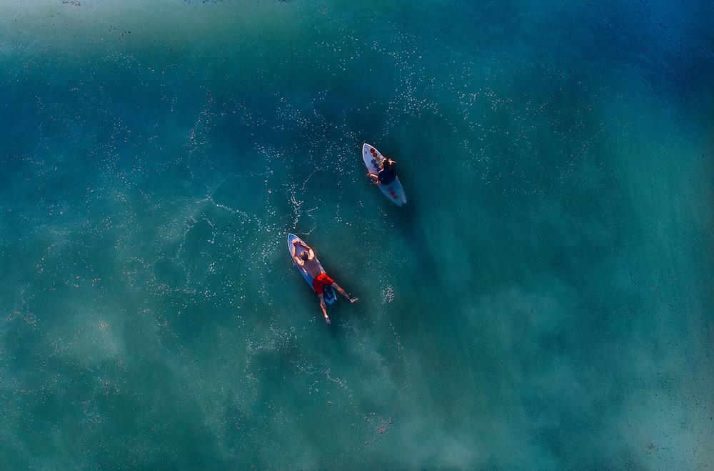 surfers in ocean