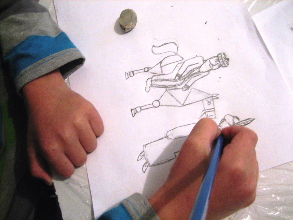 Hand drawing, pencil