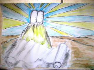 PH, age 10 Colored pencils, Har Sinai