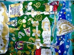 DP, age 6 Design, paint