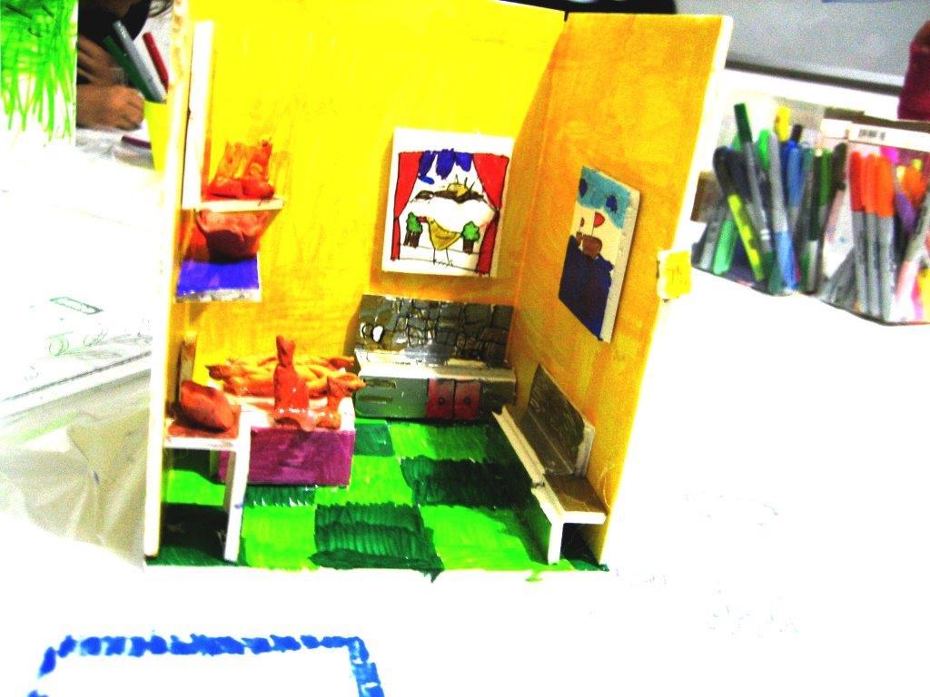 Room construction, diorama