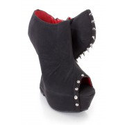 Black Spike Studded Gravity Wedges