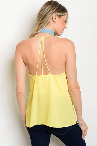 Strappy Back, Lined Tank Blouse