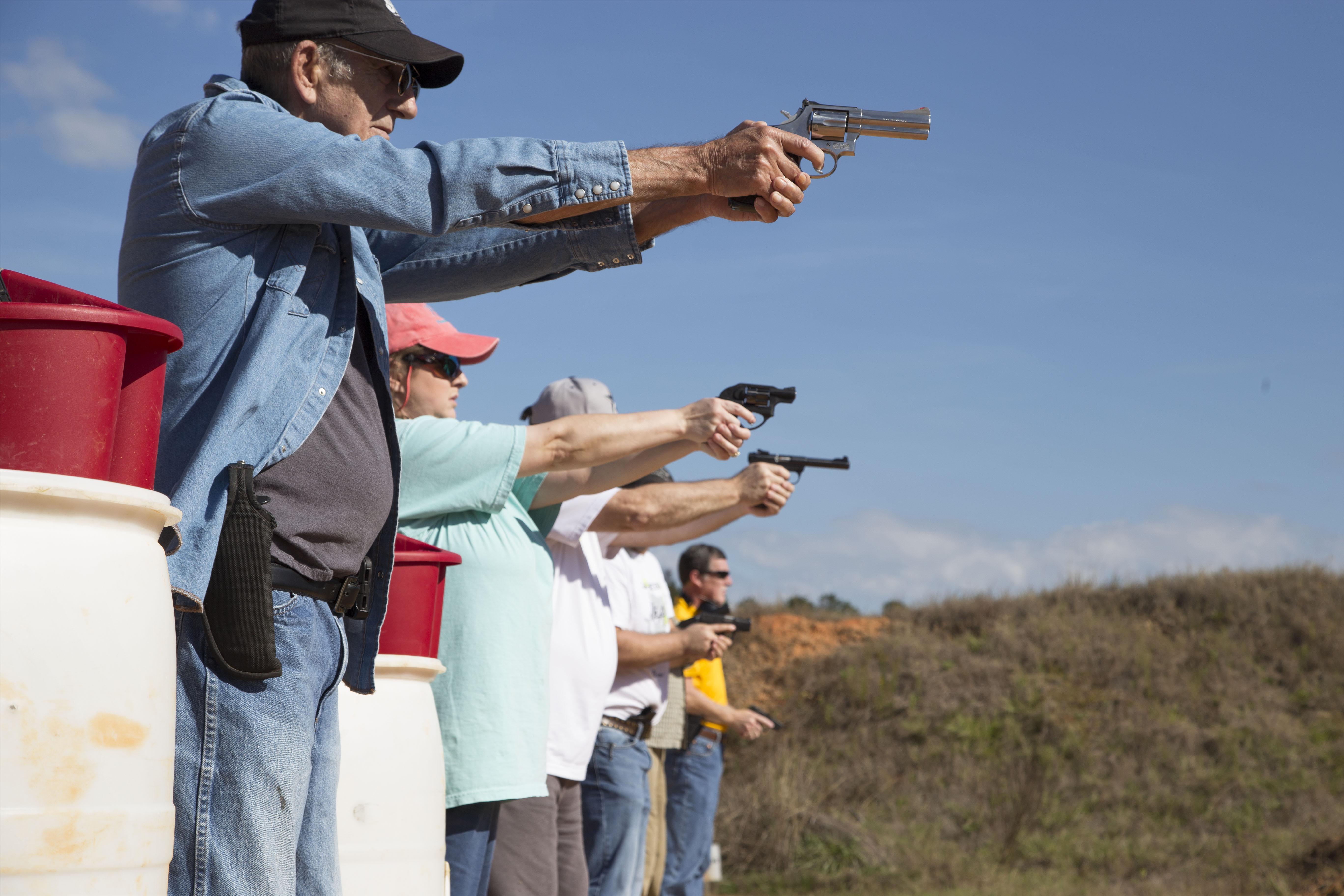 Gun training with Joseph Green