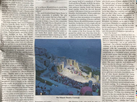 The Times Literary Supplement reviews Twenty Theatres...