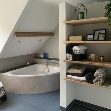 Badkamer betonlook
