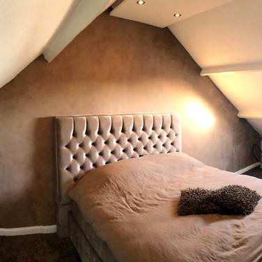 Betonlook slaapkamer