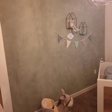 Babykamer betonlook