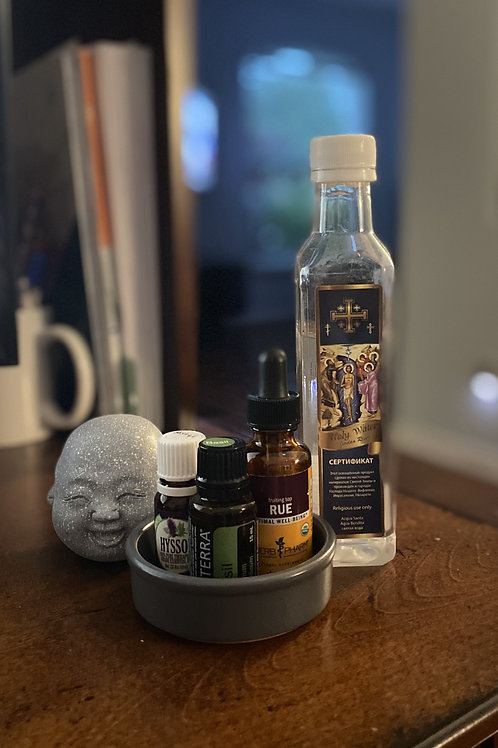 Spiritual cleansing with herbs and oils