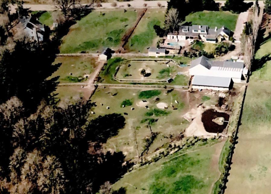 Aerial view of the original Frog Pond Farm