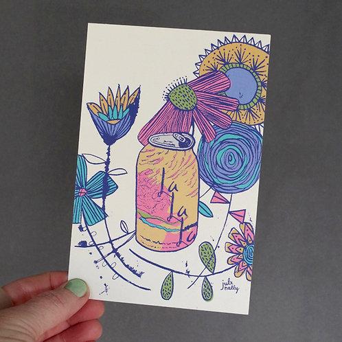 La La La Postcard 4x6