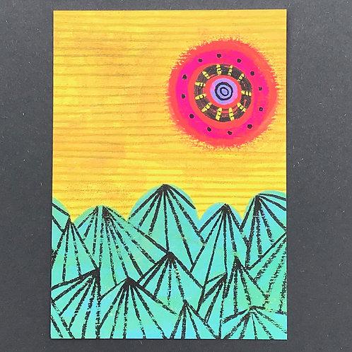 Sunshine & Mountains Art Print