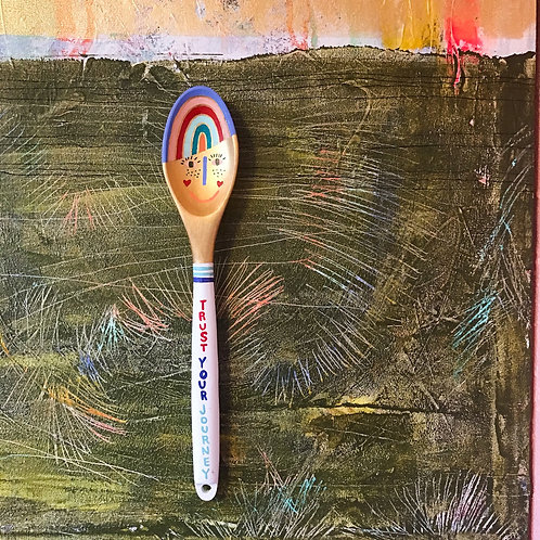 Trust Your Journey Art Spoon