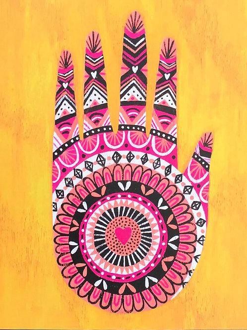 Heart Hamsa Hand Print