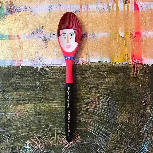 Forever Grateful Art Spoon