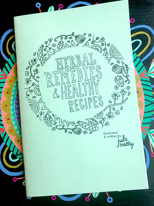 Herbal Remedies & Healthy Recipes Coloring Book