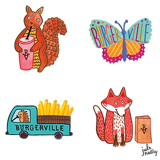 Burgerville Temporary Tattoo Designs Kids Meals