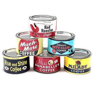 NOSTALGIC COFFEE TINS