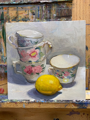 Lemon and cups