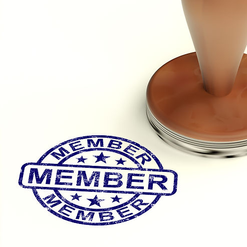 member-stamp-showing-membership-registra
