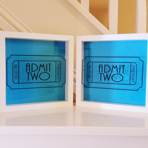 why keep your memory items stored in a box when you can have them on display these frames are ideal for concert and travel tickets and are personalised to