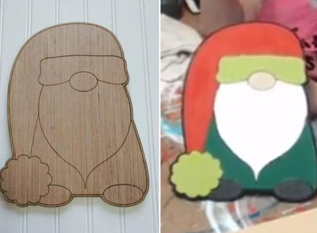 How to Paint a Christmas Gnome Wood Cutout