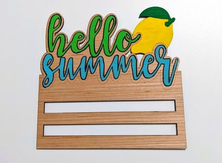 Paint-by-Line Hello Summer Wreath Rail