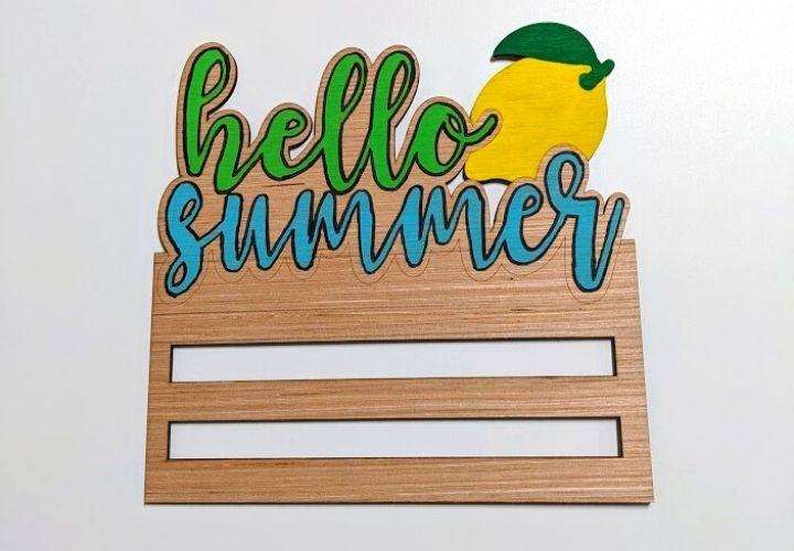hello summer lemon wreath rail