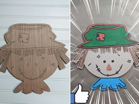 How to Paint a Scarecrow Face Wood Cutout