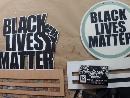 Black Lives Matter: Paint by Line Tutorial