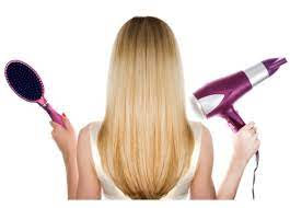 Blowdrying techniques includes sleek & bouncy
