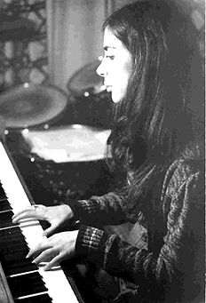 young karen littman playing piano