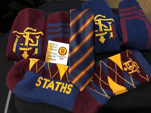 STATHS Socks  3pk Gift Set /Tie $40 US